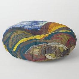 Canadian Landscape Franklin Carmichael Art Nouveau Post-Impressionism Floor Pillow