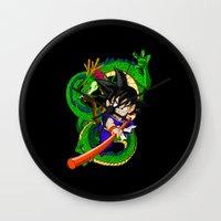 goku Wall Clocks featuring Little Goku by feimyconcepts05