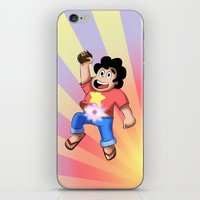 steven universe iPhone & iPod Skins featuring STEVEN UNIVERSE by DROIDMONKEY