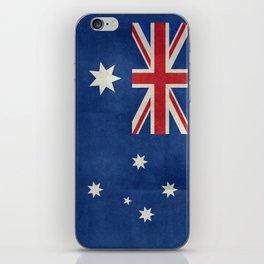 "Australian flag, retro ""folded"" textured version (authentic scale 1:2) iPhone Skin"