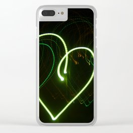 Love in Lights Clear iPhone Case