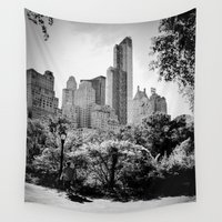 central park Wall Tapestries featuring Central Park by Petra Heitler