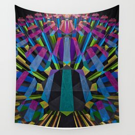 Pentagon Explosion Wall Tapestry