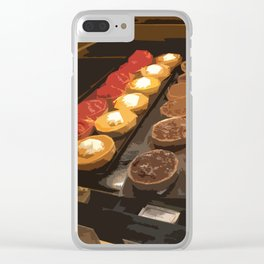 Tarts and eclairs Clear iPhone Case