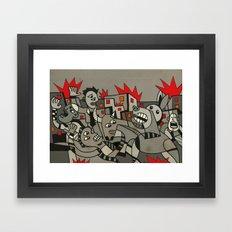 Riot in the Street Framed Art Print