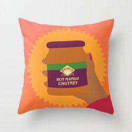 Mango Chutney Throw Pillow