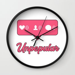 Unpopular Instagram Wall Clock