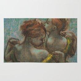"Edgar Degas ""Two dancers - half-length"" Rug"