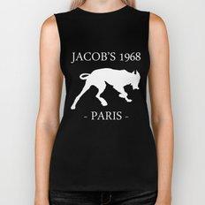 White Dog II Black Contours Jacob's 1968 fashion Paris Biker Tank