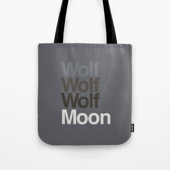 3 Wolvetica Tote Bag