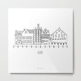 Ghent Metal Print