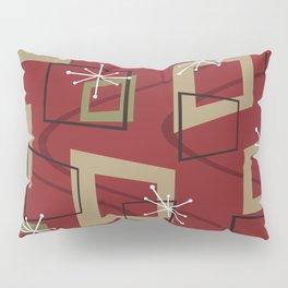 Mid Century Modern Maroon Pillow Sham