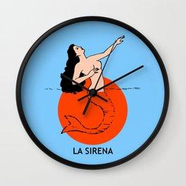 La Sirena Loteria - Mexican Bingo Card Wall Clock