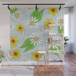 simple bright flowers Wall Mural