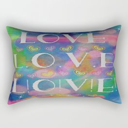 Love L.o.v.e. L!o!v!e! Rectangular Pillow