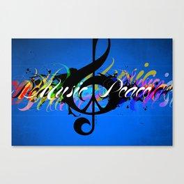 Music & Peace Rainbow Canvas Print