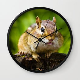 Caught With His Mouth Full Wall Clock