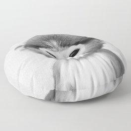 Baby Monkey - Black & White Floor Pillow