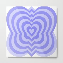 Purple Hearts by Freddi Jr Metal Print