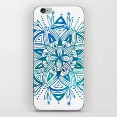 Mandala - Blue Green Watercolor iPhone Skin
