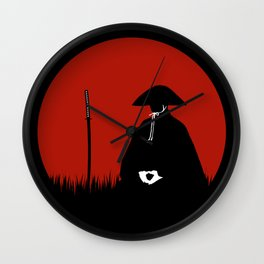 Meditating Samurai Warrior Wall Clock