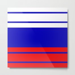 TEAM COLORS 9 ......red,white , blue Metal Print