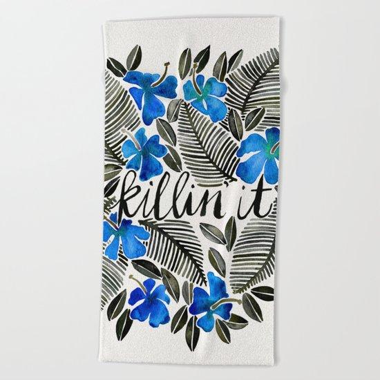 Killin' It – Tropical Blue Beach Towel