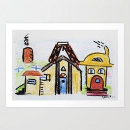 At The Play House Art Print