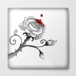'Painting The Roses Red...' Metal Print