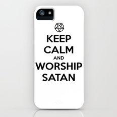 Keep Calm and Worship Satan Slim Case iPhone (5, 5s)