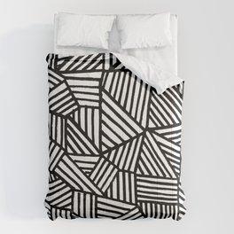 Black Brushstrokes Comforters