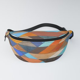 Triangle Pattern no.18 blue and orange Fanny Pack