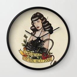 Pin Up Bettie Pinup Girl Whiplash Wall Clock