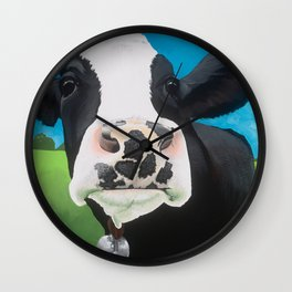 Flossie the Freckled Cow Wall Clock