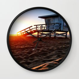 "Redondo Beach ""Life Guard Tower 3"" Wall Clock"