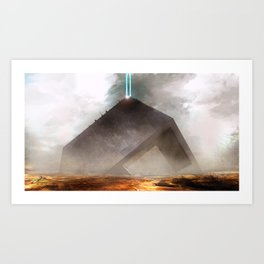 Future Desert Vessel Art Print