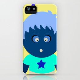 Naughty cute boy illustration art iPhone Case