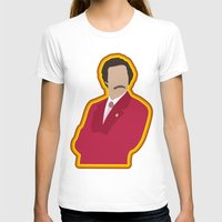 anchorman T-shirts featuring Ron Burgundy: Anchorman by The Vector Studio
