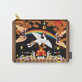 A Beast in human clothing - Chinese civil official uniform pattern -  Hardcore Gamer Carry-All Pouch