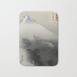 Dragon Rising to the Heavens at Mount Fuji by Ogata Gekko Bath Mat
