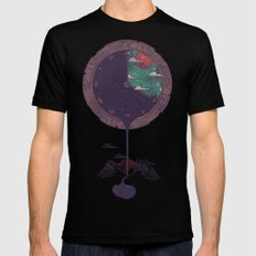 Night Falls Black Mens Fitted Tee LARGE