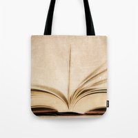 kindle Tote Bags featuring Silent Reading II by Rose Etiennette
