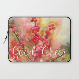 Good cheer with winter berries Laptop Sleeve