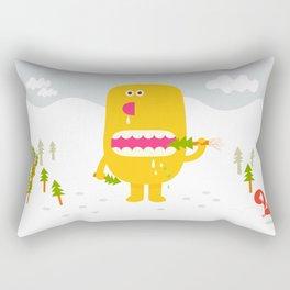 Pine time snacking  Rectangular Pillow