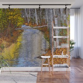 Autumn Stream - Watercolor Wall Mural