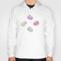 macaron Hoodies featuring Macaron Pattern - raspberry, pistachio, lemon & blackberry by Perrin Le Feuvre