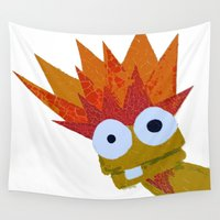 muppet Wall Tapestries featuring Hothead by Myles Hunt