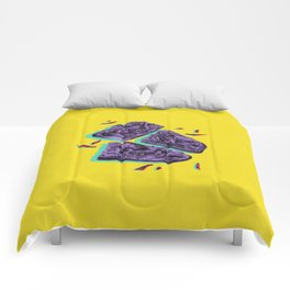Favourite Food - Yellow by Chrissy Curtin Comforters