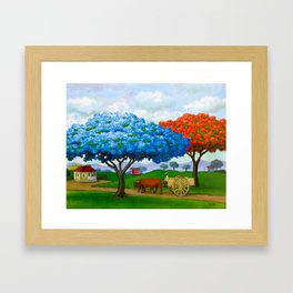 Flamboyán Azul Framed Art Print