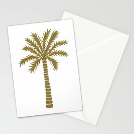 Gold Palm Tree Stationery Cards